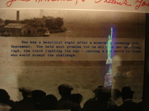 Quote Inside the Statue Of Liberty Museum