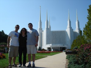 Washington, D.C. Temple with Jon, Ashley, and Ryan