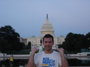 Jon Holding Up the Washington Capitol Building