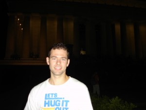 Jon In Front of the Lincoln Memorial in Washington, D.C.