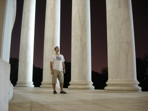 Jon in the Jefferson Memorial Washington, D.C.