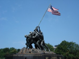 Washington DC Iwo Jima Memorial Front