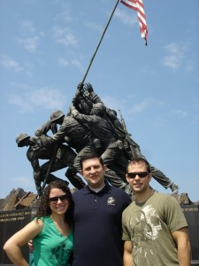 Washington DC Iwo Jima Memorial with family
