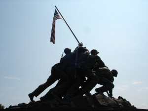 Washington DC Iwo Jima Memorial Back