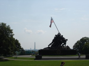 Washington DC Iwo Jima Memorial, Washington Monument, Capitol Building